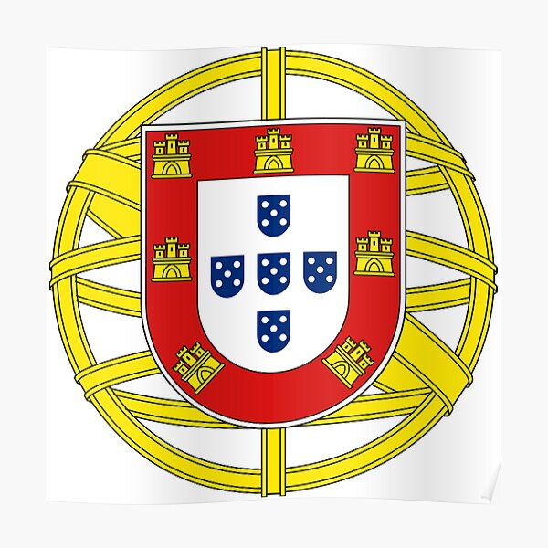 Symbol on the Portuguese Flag Poster