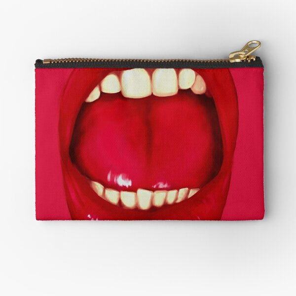 Shouting Mouth Zipper Pouch