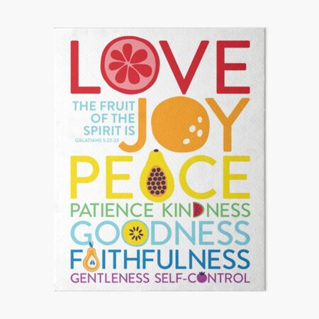 Fruit Of The Spirit Bible Verse Christian Art Board Print