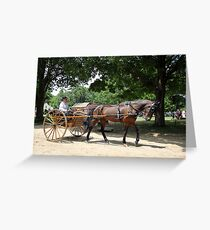Horse and Carriage 3 Greeting Card