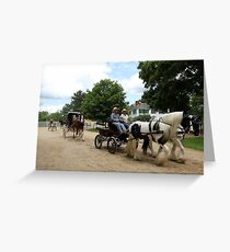 Horse and Carriage Parade Greeting Card