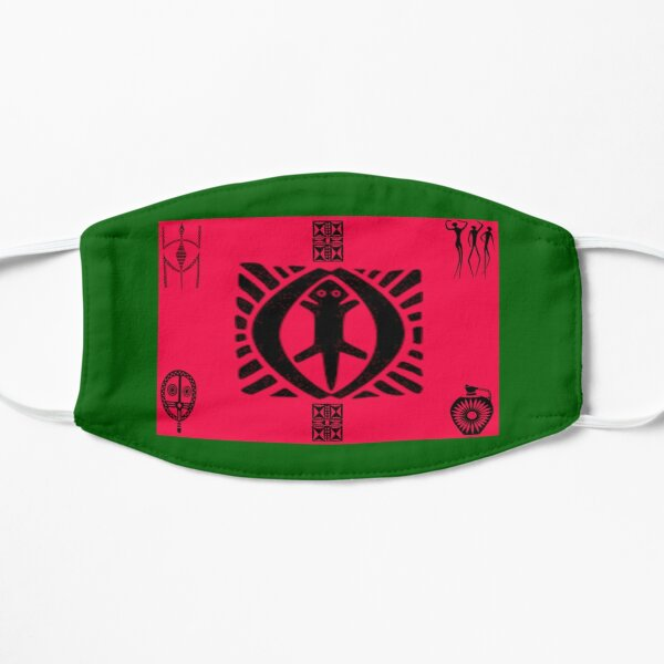 TRIBAL DESIGN  Red Black Green Mask