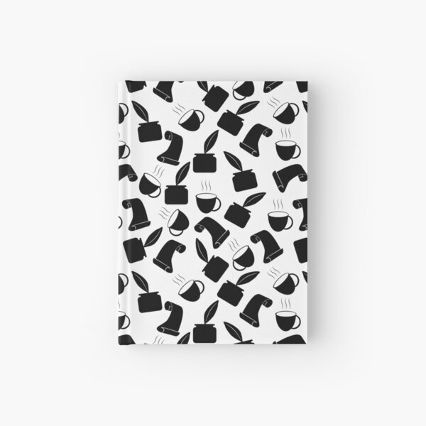 Ink and quill Writer Pattern Hardcover Journal