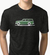 Volvo Amazon Station Wagon Kombi Green Eerkes for Black Shirts Tri-blend T-Shirt
