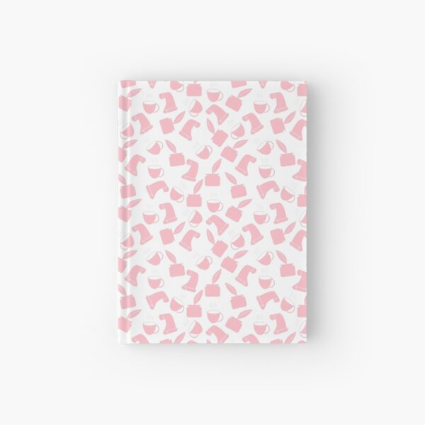 Ink and Quill Writer pattern Pink Hardcover Journal