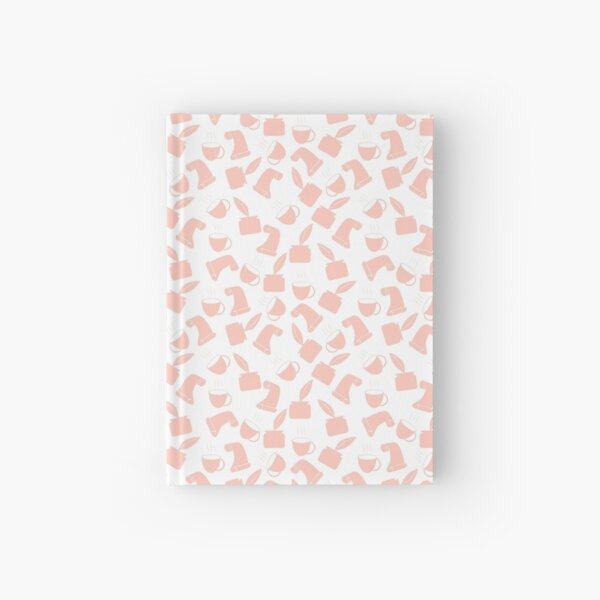 Ink and Quill Writer pattern Orange Hardcover Journal
