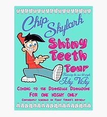 Chip Skylark Tour Poster - Faily Oddparents Photographic Print
