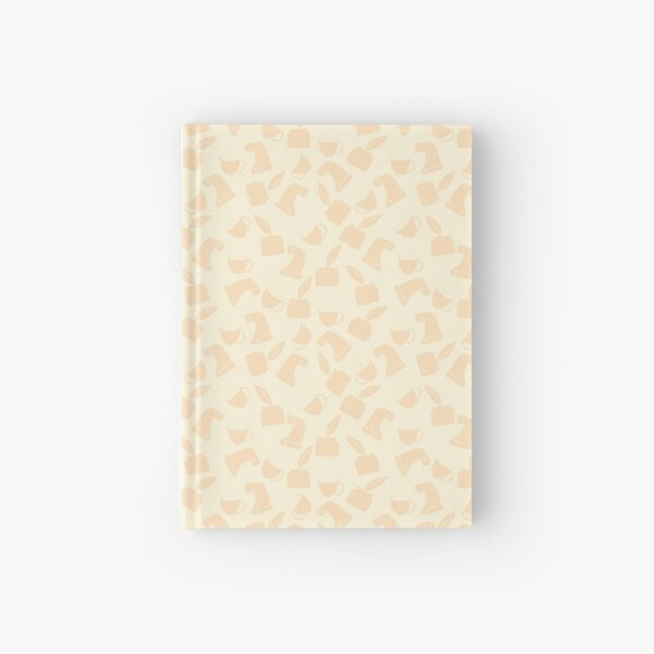 Ink and Quill Writer pattern Yellow bg Hardcover Journal