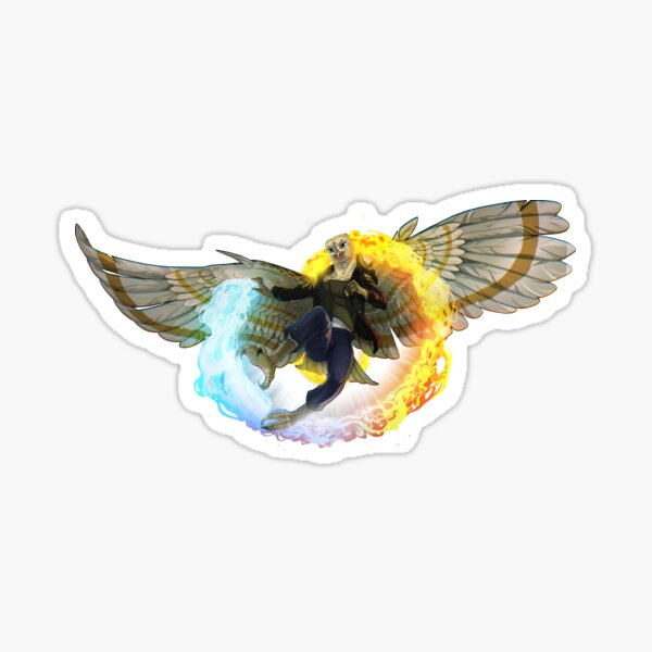 Dazzling Flame and Feather Sticker