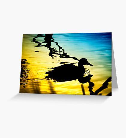 Sunset on Jubilee Lake Greeting Card
