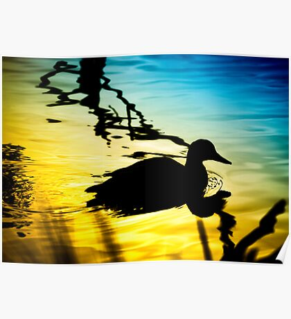 Sunset on Jubilee Lake Poster