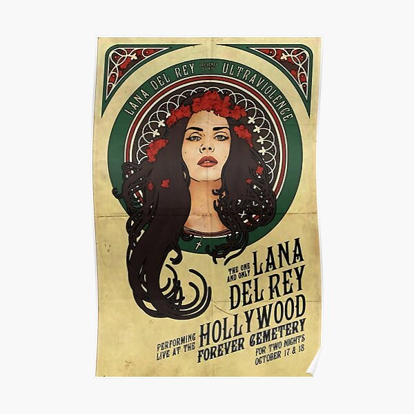 Tour Hollywood Lana Del Ray Poster Póster