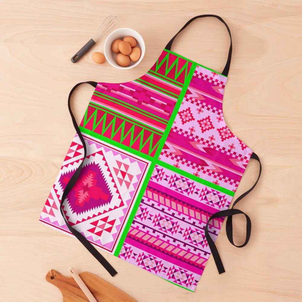 Contemporary South Western Tribal Decorative Print Apron