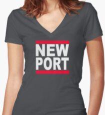 Newport Women's Fitted V-Neck T-Shirt