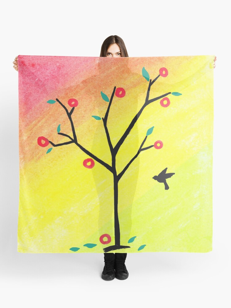 Drawstring Backpack Tree Bird Oil Painting Rucksack
