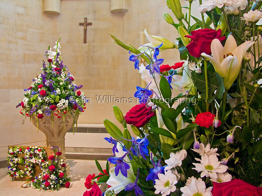 Corpus Christi  Flowers - Arundel Cathederal by Colin  Williams Photography