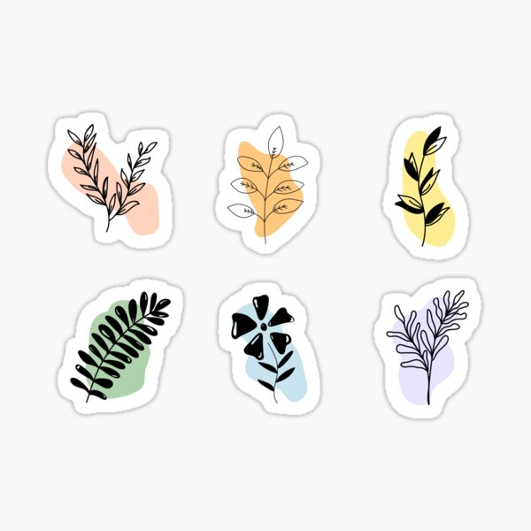 plant doodles Sticker