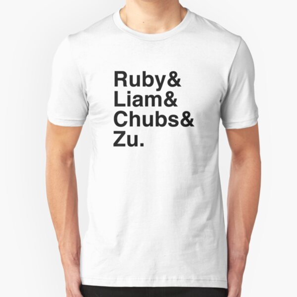 Ruby & Liam & Chubs & Zu. Slim Fit T-Shirt