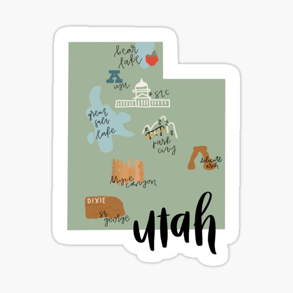 Utah Landmarks Sticker