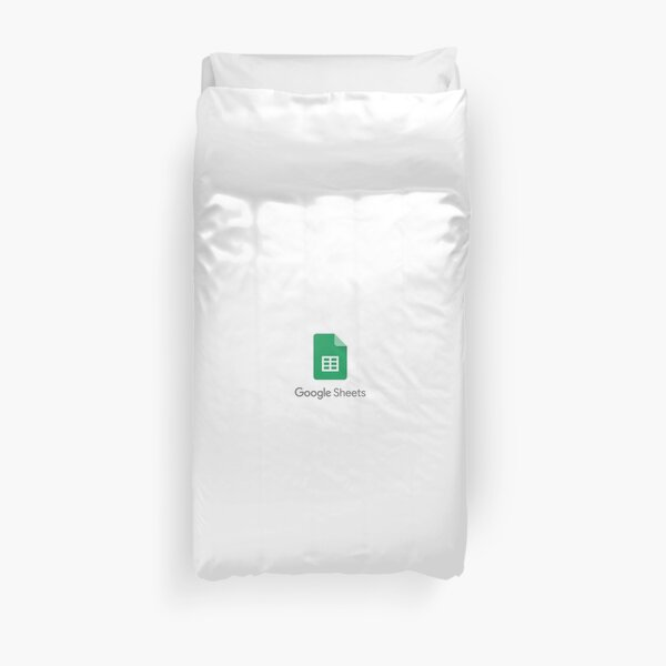 Google sheets Duvet Cover