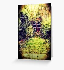 The Shed at the End of the Garden Greeting Card