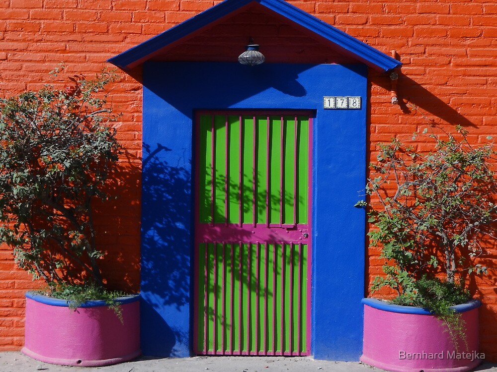 Colored Front-Door - Puerta De Casa De Colores  by Bernhard Matejka