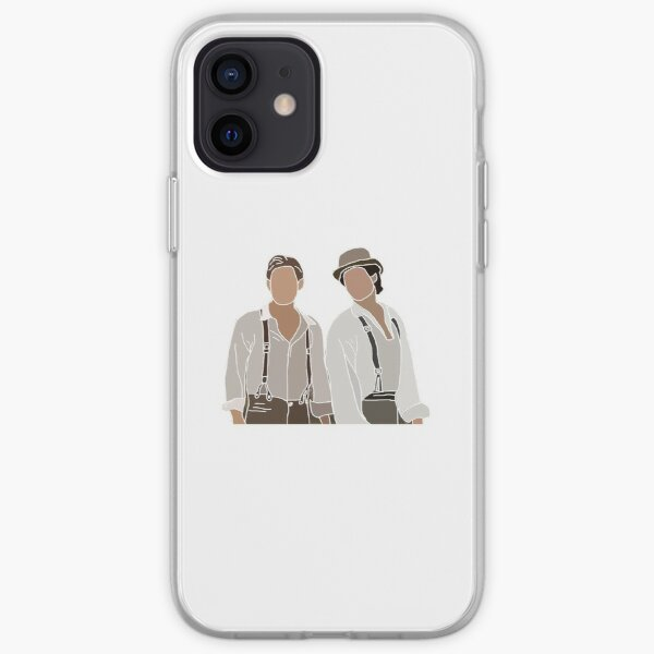 Damon y Stefan Salvatore Vampire Diaries Drawing Funda blanda para iPhone