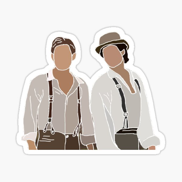 Damon et Stefan Salvatore Vampire Diaries Dessin Sticker