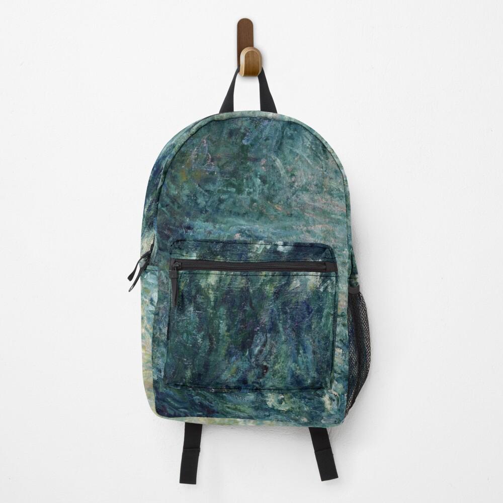 Monet Morning on the Seine Fine Art Backpack