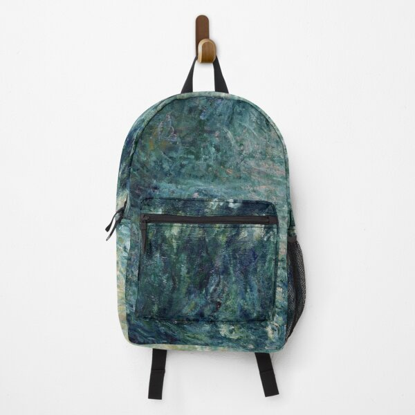 Monet Morning on the Seine Fine Art Backpack