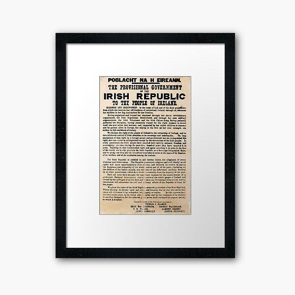 Irish Proclamation of Independence (High Resolution)  Framed Art Print