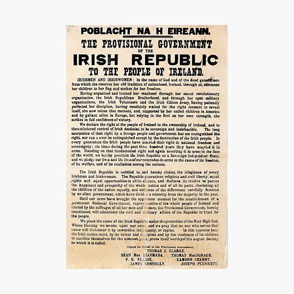 Irish Proclamation of Independence (High Resolution)  Photographic Print