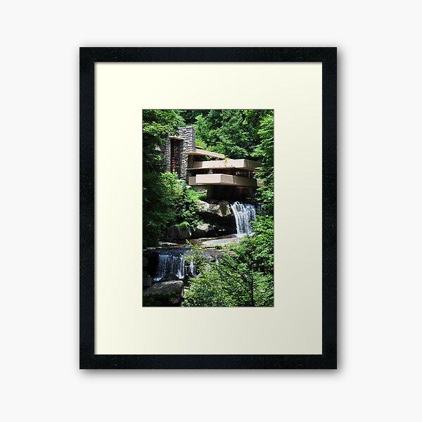 Falling Water Framed Art Print