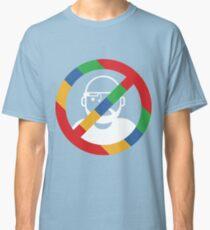Stop the cyborgs logo (white) Classic T-Shirt