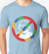 Stop the cyborgs logo (white) Unisex T-Shirt
