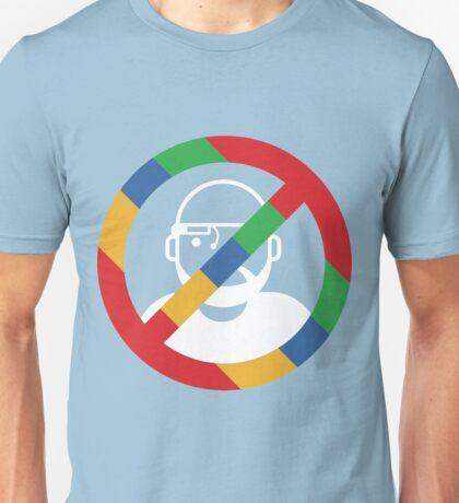 Stop the cyborgs logo (white) Unisex T-Shirt