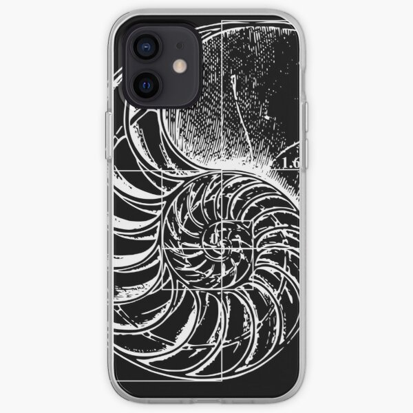Fibonacci on a nautilus shell iPhone Soft Case