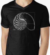 Fibonacci on a nautilus shell Men's V-Neck T-Shirt