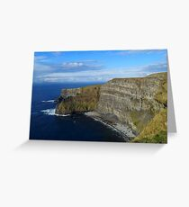 Enormity of the Cliffs of Moher Greeting Card