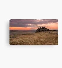 Dartmoor Sunset Canvas Print