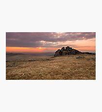 Dartmoor Sunset Photographic Print