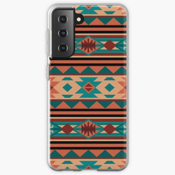 Southwestern Design Turquoise Beige Terracotta Samsung Galaxy Soft Case