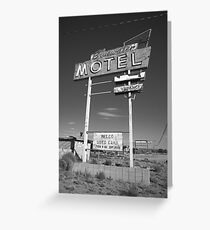 Route 66 - Bluewater Motel Greeting Card