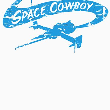 Space Cowboy - Distressed Blue by MWMcCullough
