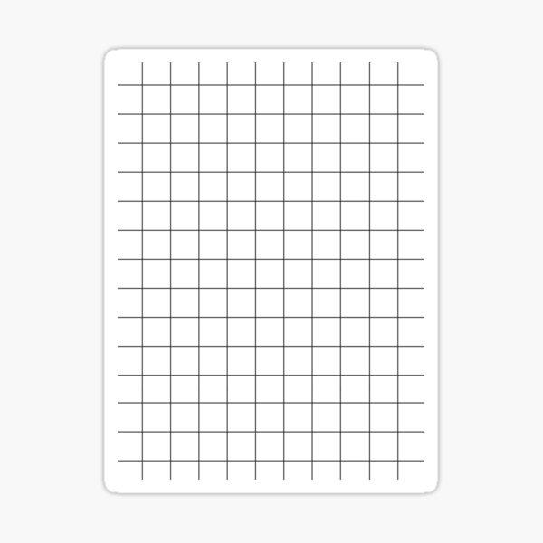 Grid White & Black Sticker