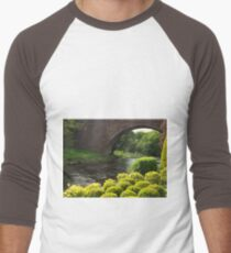 Bushes , Bridge and River Men's Baseball ¾ T-Shirt