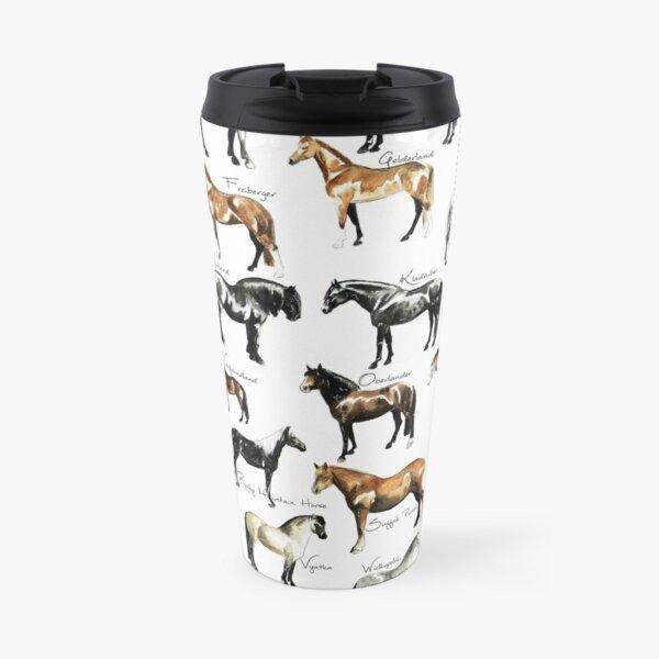 Rare Horse Breeds ABC  Travel Mug