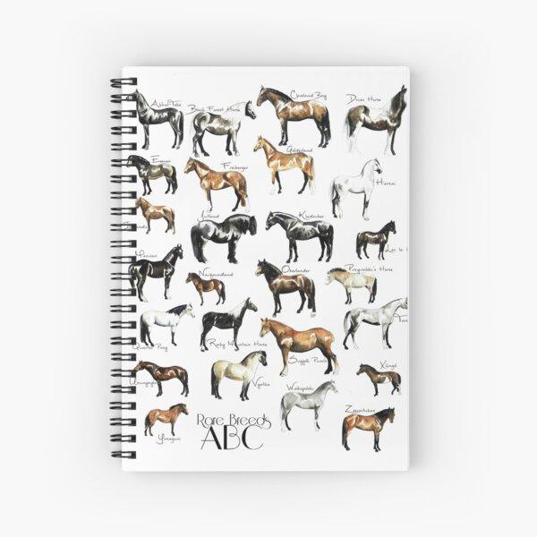 Rare Horse Breeds ABC  Spiral Notebook