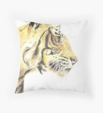 Tiger - Portrait Throw Pillow