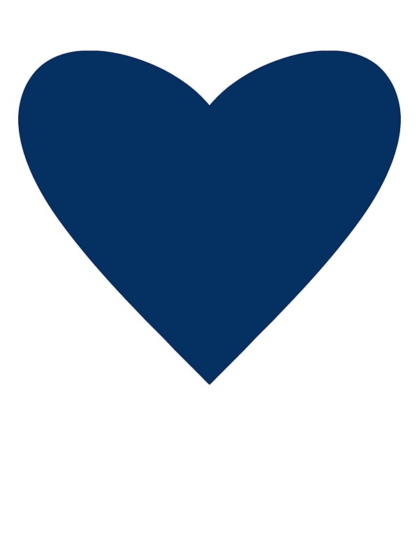 Quot Navy Blue Heart Quot Stickers By M Studio Designs Redbubble